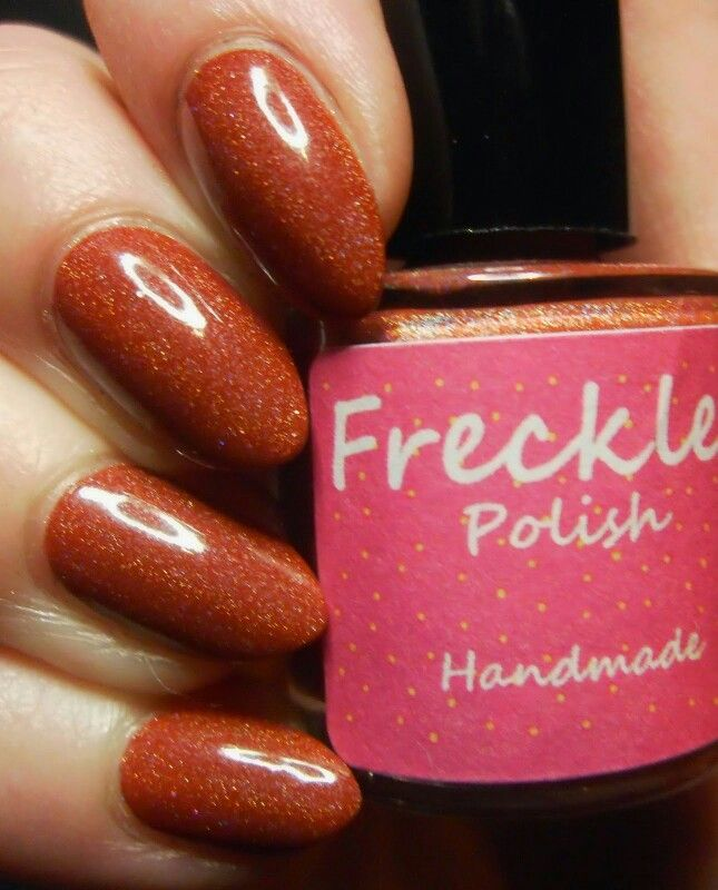Here's Freckles Polish Burnt At The Stake, part of The Coven Collection which will be released this Friday 30th January! This collection is inspired by American Horror Story, have you seen it?  This gorgeous swatch is by Cazzy from Special Girl Nails, make sure you check out her blog for more pics and a great review http://specialgirlnails.blogspot.co.uk/2015/01/uk-indies-freckles-polish-new.html?m=1 Www.etsy.com/shop/frecklespolish #frecklespolish #nails #nailart #nailartwow…