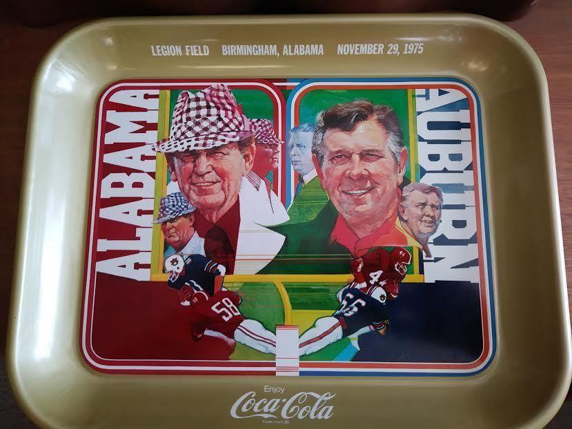 Auburn vs. Alabama College Football Game on November 29, 1975 CoCa Cola Tray