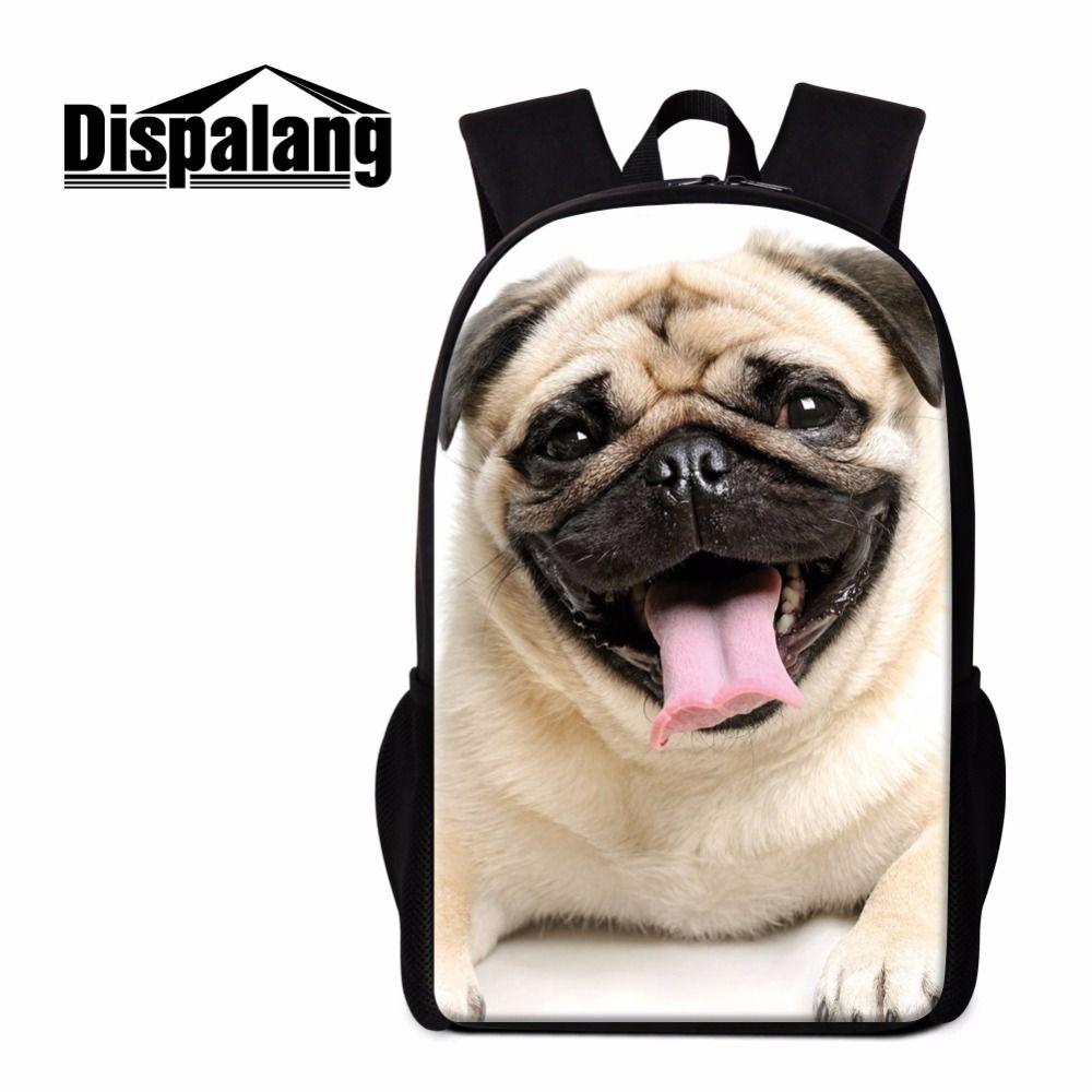 e5b0dc1ffd Dispalang Men Women Backpacks Light Comfort School Bags Dog Animal Print  Backpack for Children Breathable Kids Rucksack Mochila