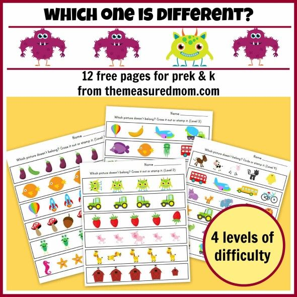 Which One Is Different Worksheets For Preschool And