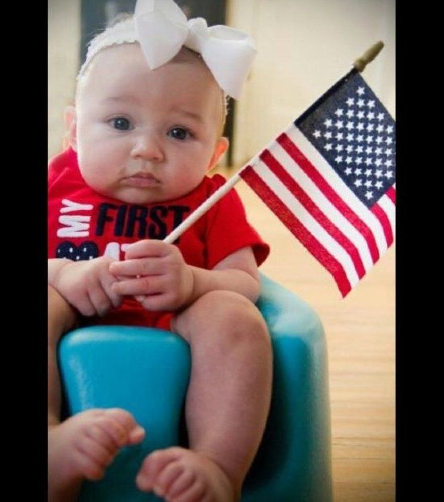 Patriotic Babies And Children So cute <3