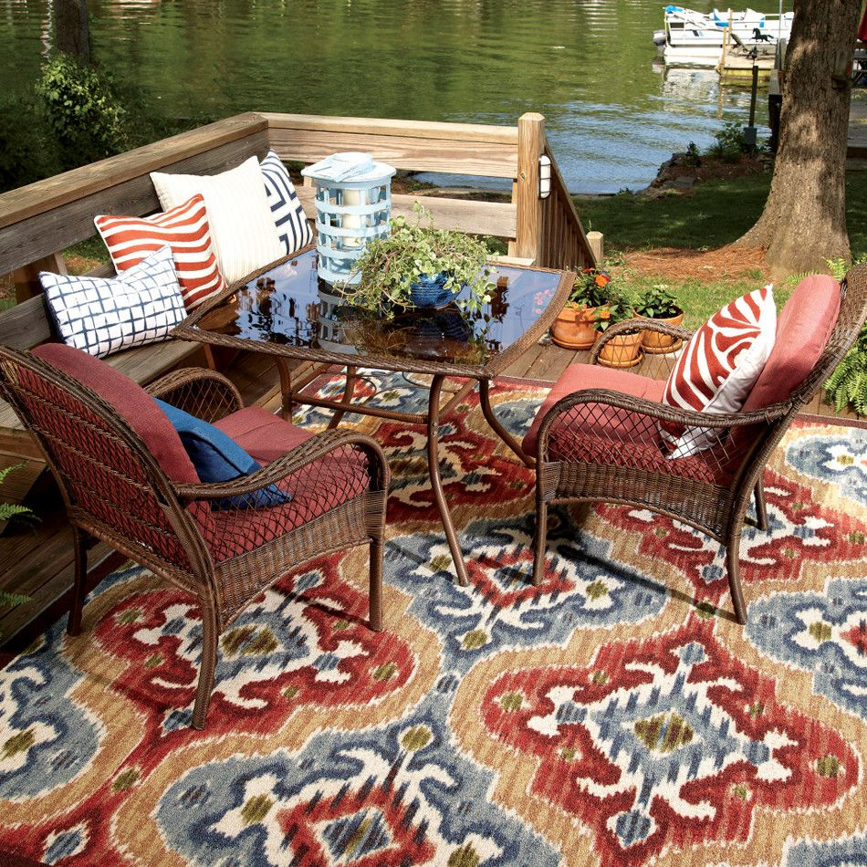 Mohawk Home Mystic Ikat Contemporary Outdoor Rugs Denver