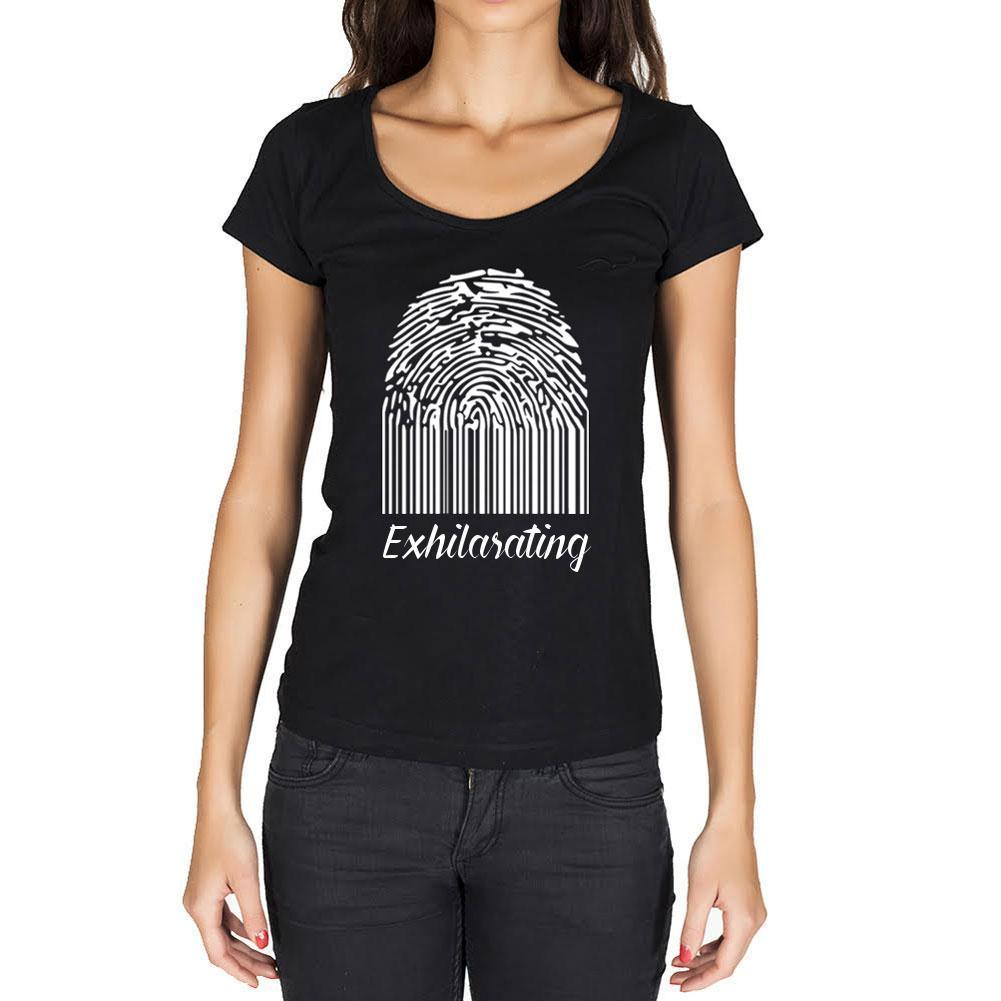 Exhilarating, Fingerprint, Black, Women's Short Sleeve Rounded Neck T-shirt, gift t-shirt