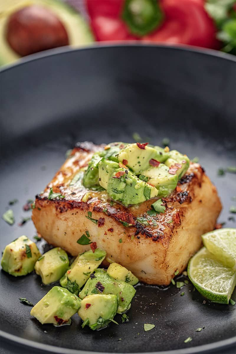 Quick and Easy Sea Bass with Avocado Salsa   Recipe   Fish dinner recipes, Fish  recipes healthy, Fish dinner
