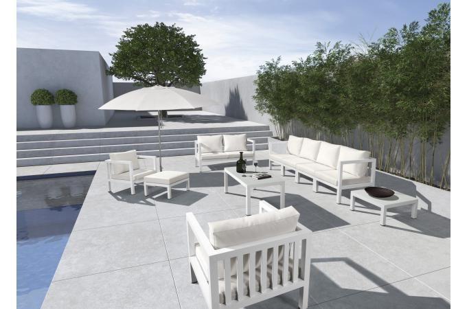 impressionnant salon de jardin blanc pas cher | Décoration ...