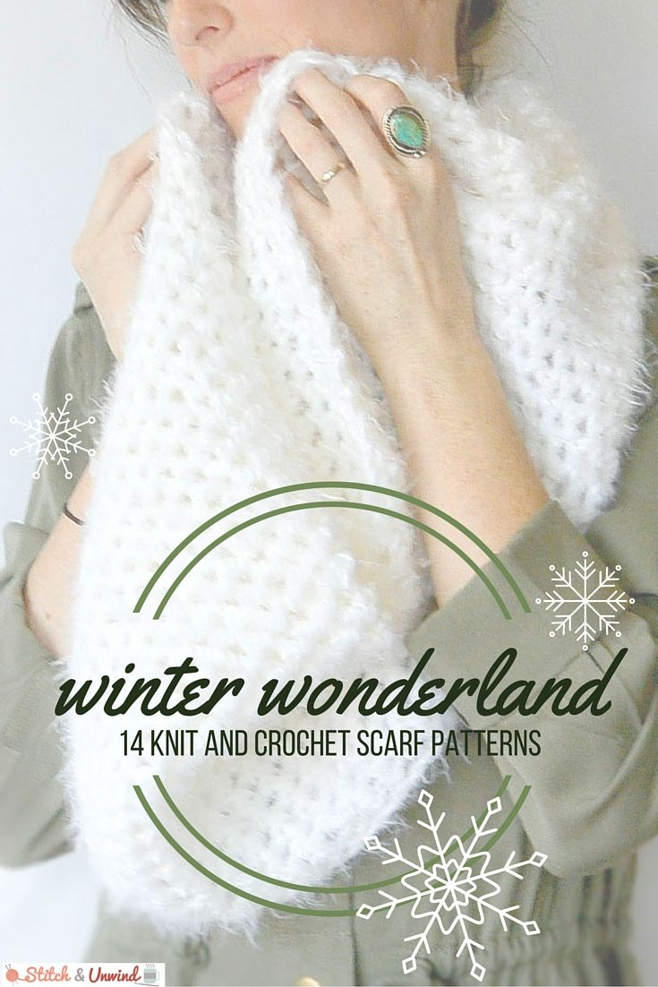 Winter Wonderland: 14 Knit and Crochet Scarf Patterns