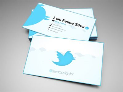 Twitter Business Card Office Chic Marketing Business Creative