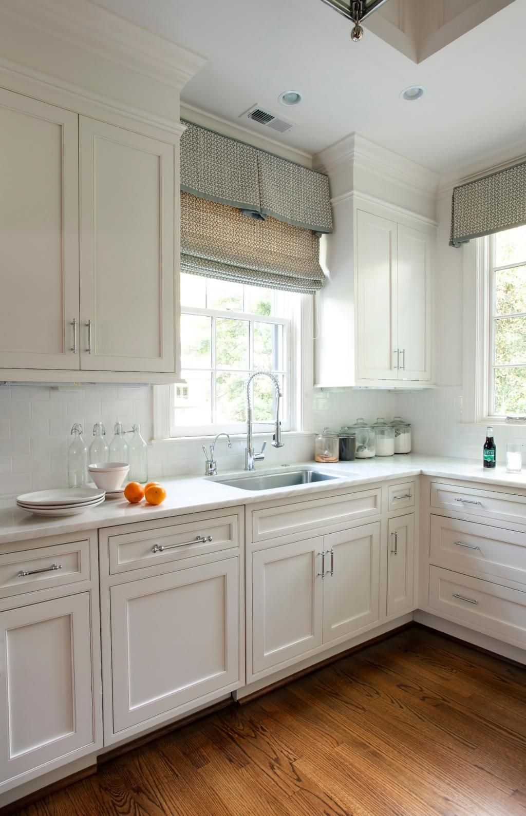 Window treatments, white, marble | Advanced Renovations ...