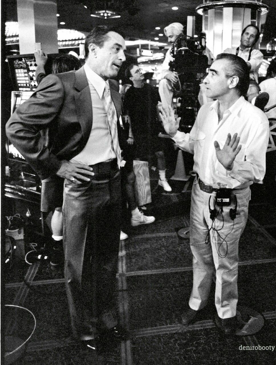 Robbie & Marty on the set of Casino