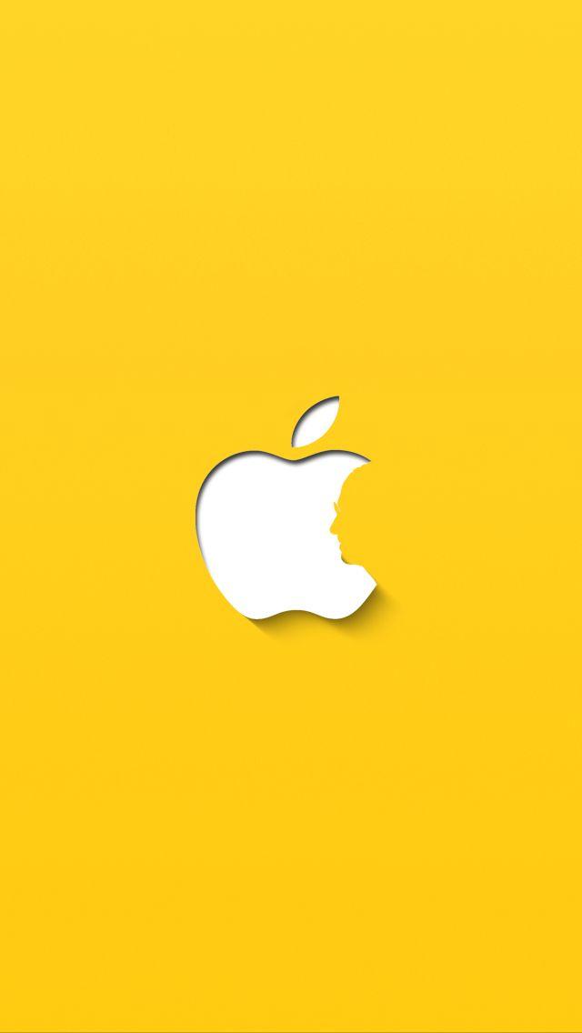 Обои желтый фон на айфон