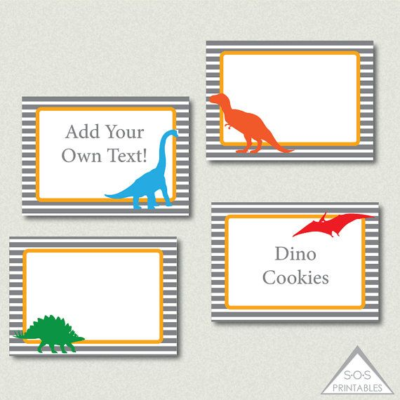 Dinosaur Party Labels Dinosaur Party Dino Labels Editable Labels
