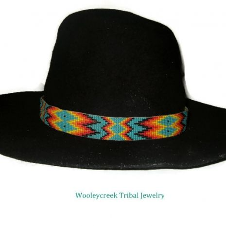 Creek Beaded Hatband Pattern @wooleycreek #indiemade