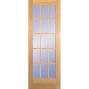 Ordinaire Builderu0027s Choice 28 In. X 80 In. 28 In. Clear Pine 15 Lite French Interior  Door Slab