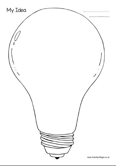 My Idea     Light Bulb Template