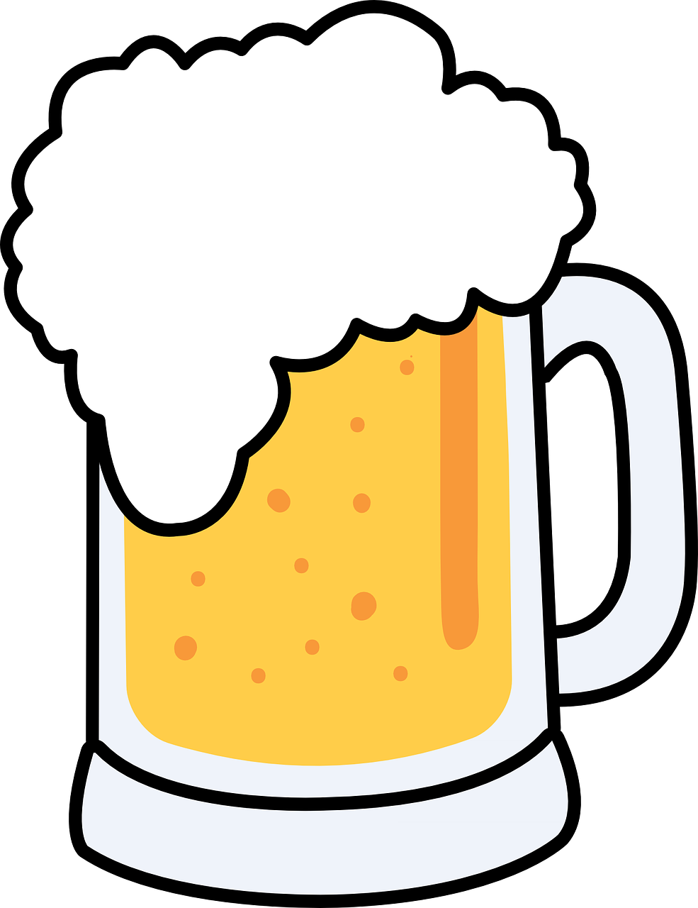 hight resolution of free to use public domain beer clip art