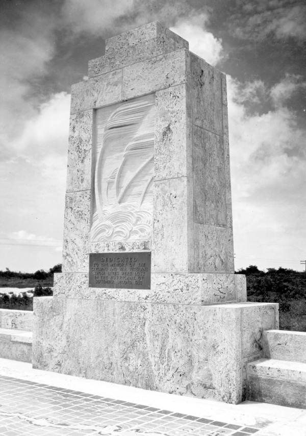 Monument In Islamorada To The Victims Of The 1935 Labor Day