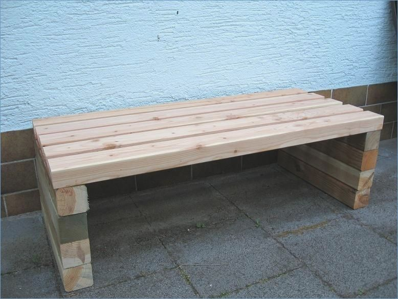 Wooden Bench Garden Diy Build Wooden Garden Benches Garden