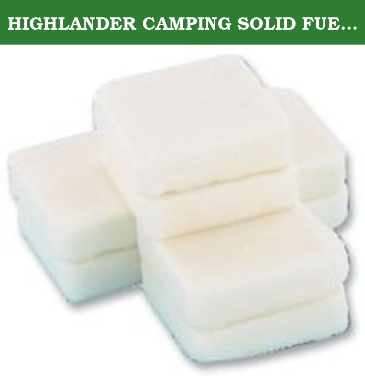 Highlander Solid Fuel Camping Tablets for Solid Fuel Stove Hexamine
