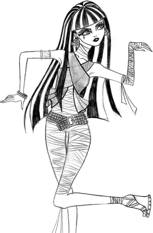 Sweet Cleo De Nile Coloring Page | Images & lines, lines every where ...