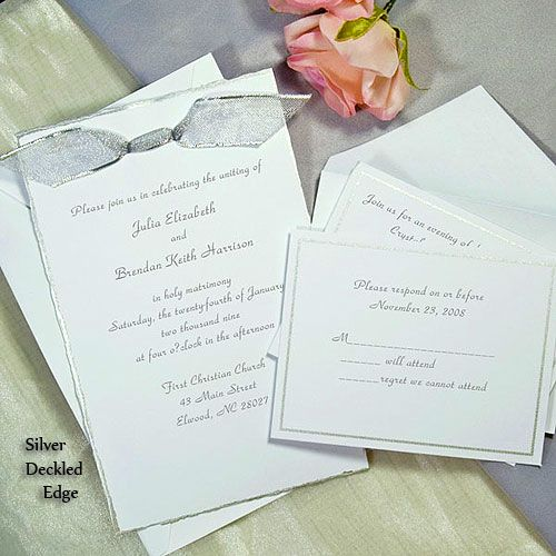 Silver deckled printable invitation kit lets get married silver deckled printable invitations kit perfect for wedding with a silver theme stopboris Images