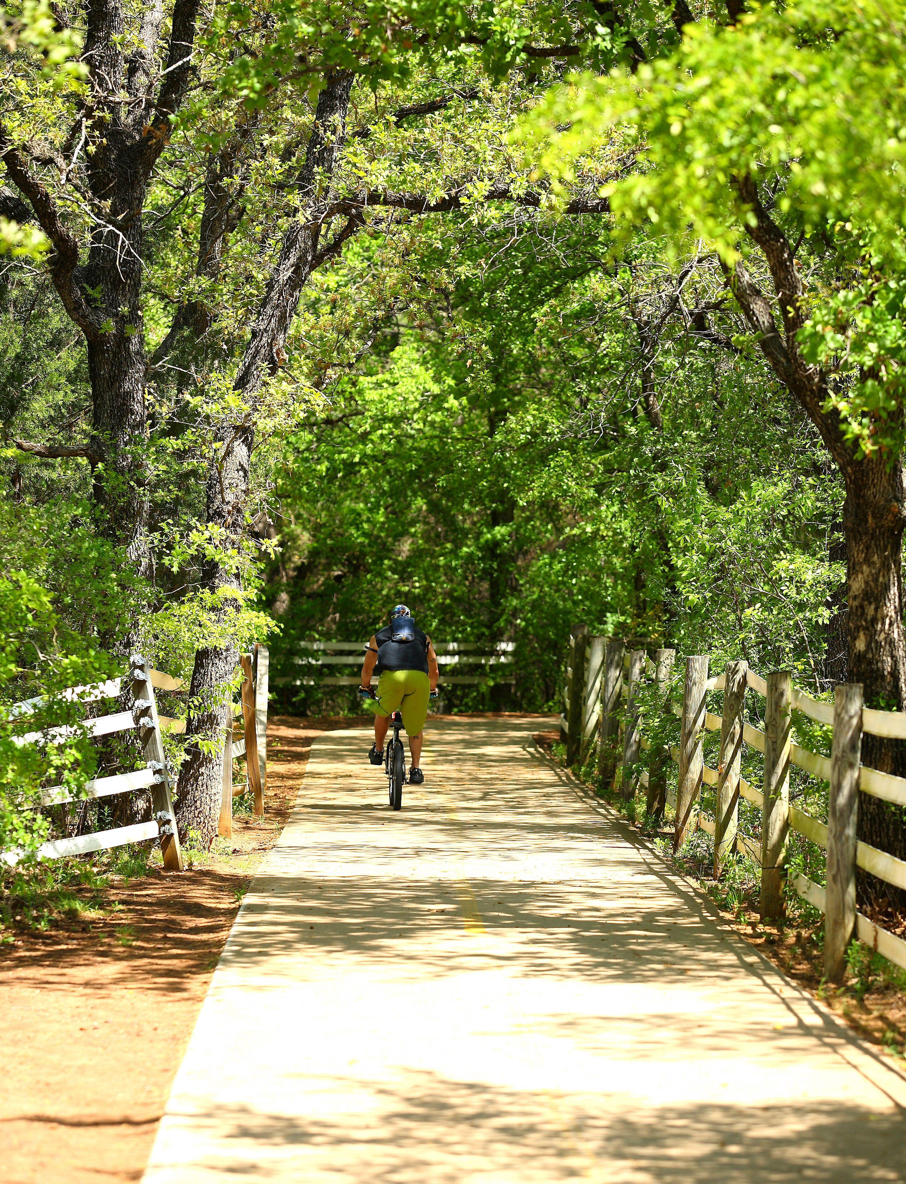 The Big Bear Creek Greenbelt hike and bike trail in Keller Texas
