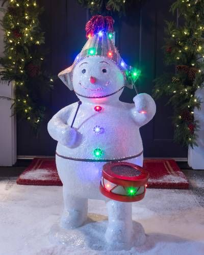 snowman outdoor fiber optic - Fiber Optic Snowman Christmas Decorations