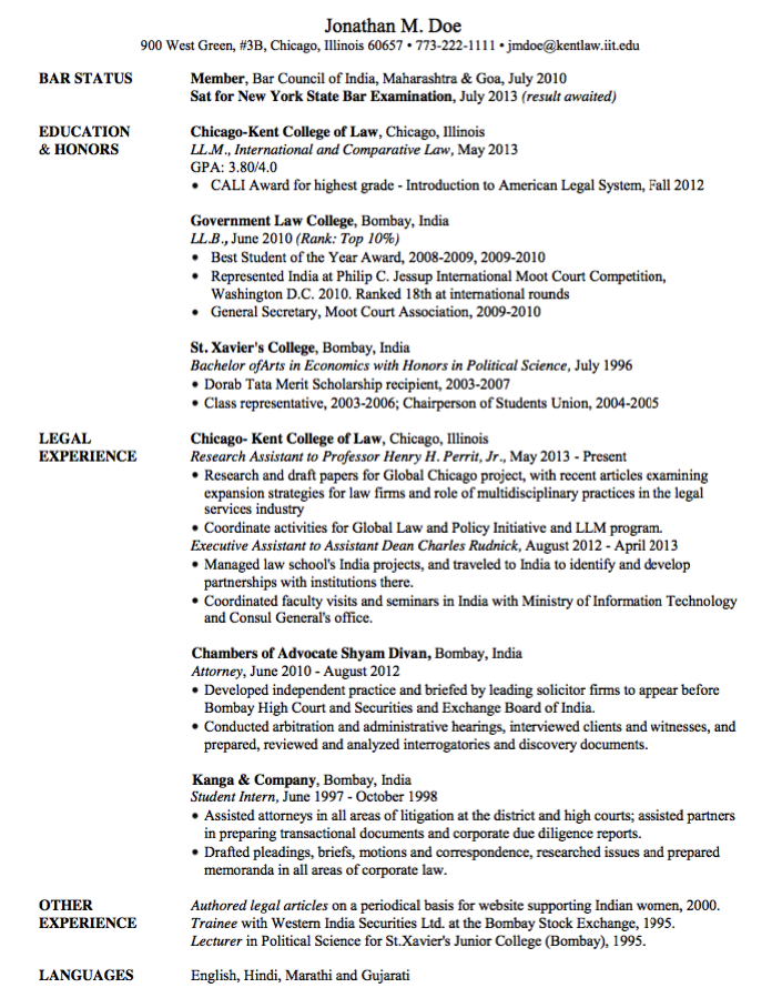 Resume For Attorney Samples Examples Resume Cv Resume Examples Resume Sample Resume