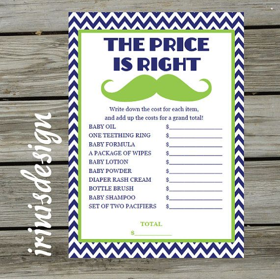 Cute Idea For A Game Baby Little Man Shower Game The Price Is Right