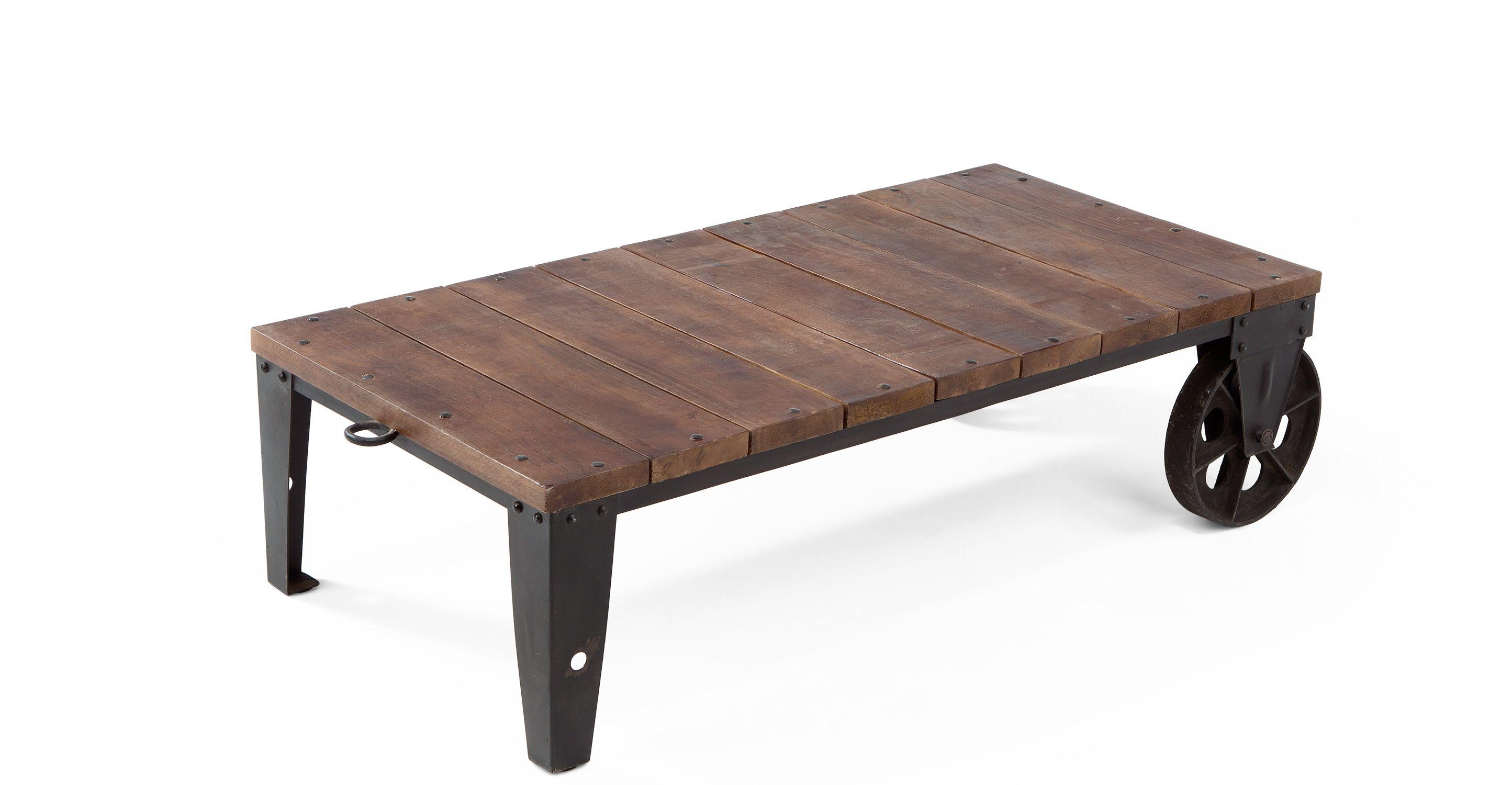 humphrey industrial coffee table in gunmetal | antiquariato