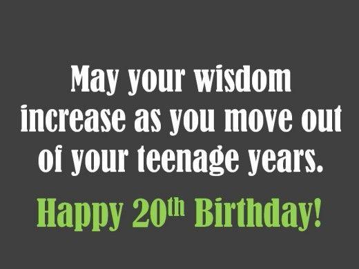 20th Birthday Saying Happy 20th Birthday 20th Birthday 20th