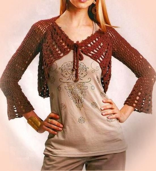Crochet Sweater: Crochet Shrug Free Pattern - Stylish And Easy ...