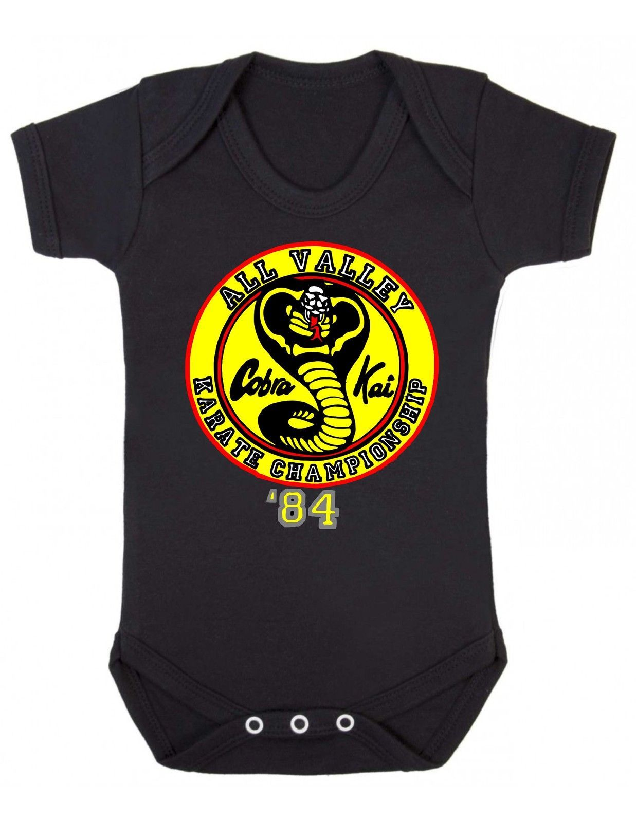 Funny Newborn Gift Baby BodySuit XMAS PRESENT CUTE Karate Cobra Kai BabyGrow