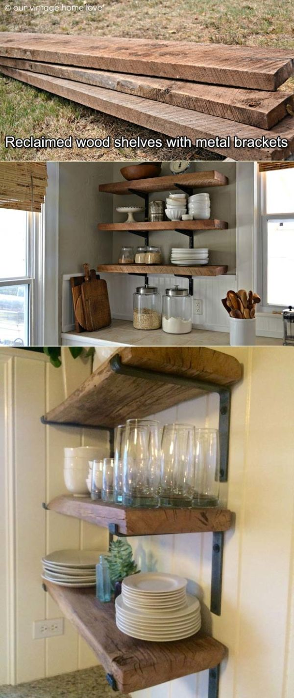 Shelf over kitchen window   diy kitchen decor projects done with reclaimed wood in   diy