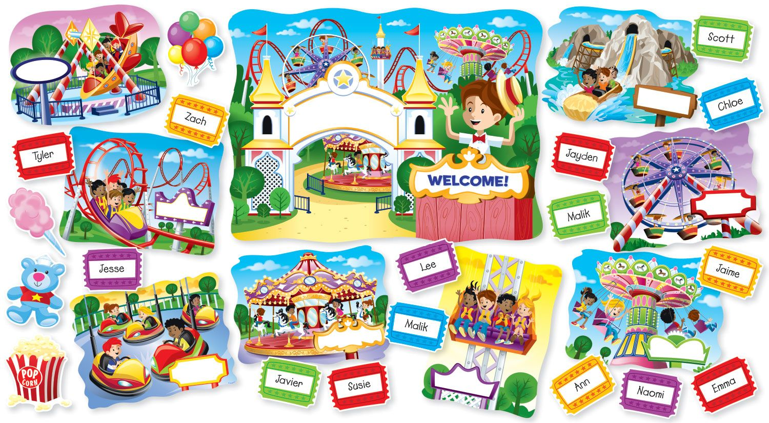 Super Duper Theme Park Bulletin Board