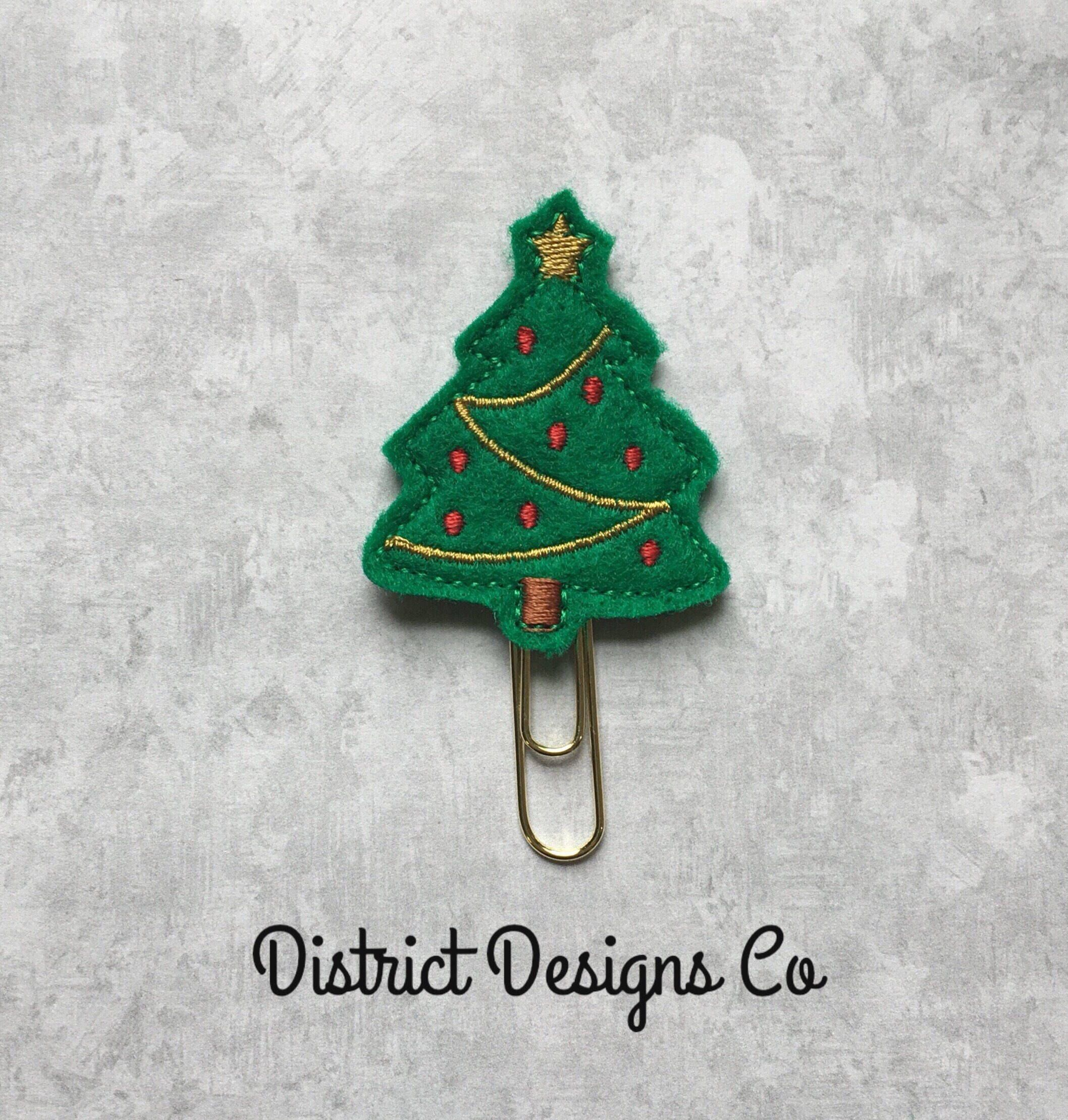 Christmas Tree Felties Plan Clips ~ Planner Clippies ~ Paper