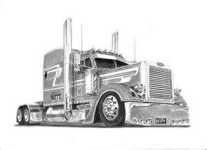 Custom peterbilt truck drawings bing images coloring for Peterbilt semi truck coloring pages