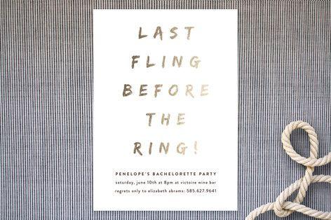 Last Fling Bling Customizable Bachelorette Party Invitations in – Customizable Bachelorette Party Invitations