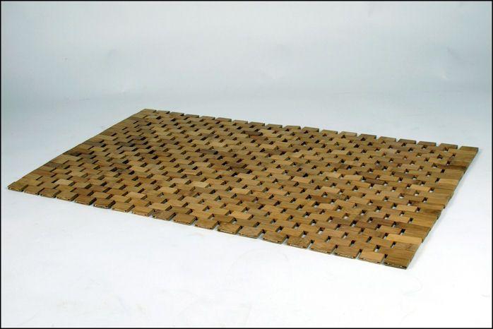 Details zu Bambus Badezimmermatte 80x50 - Badvorleger Bambusmatte ...