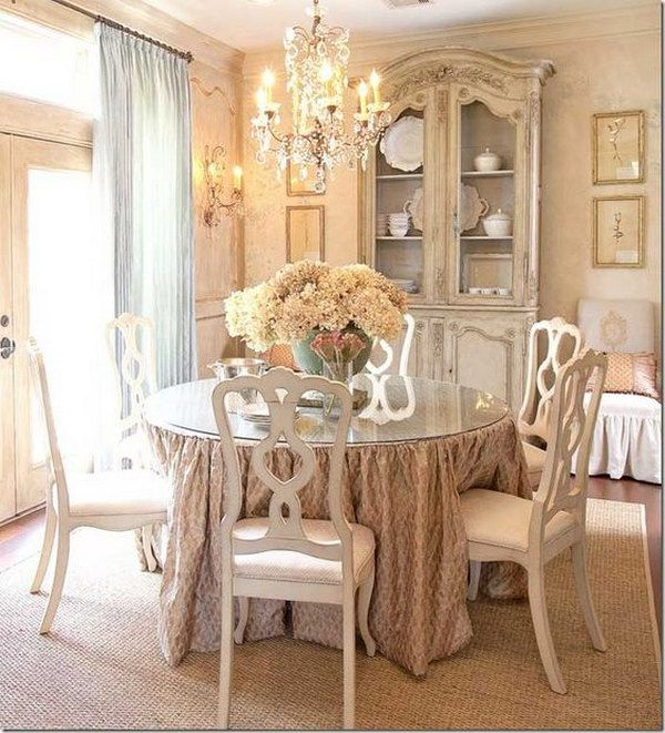 Attractive 52 Shabby Chic Dining Room Ideas: Awesome Tables, Chairs And Chandeliers  For Your Inspiration