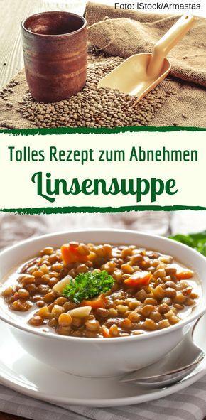 Unser kalorienarmes Rezept für deftige Linsensuppe