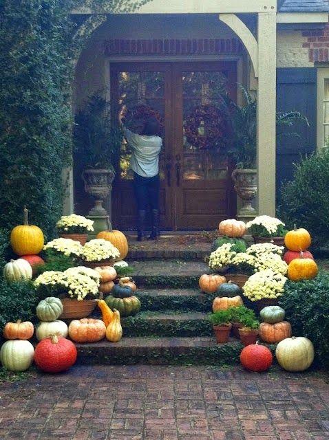 Street Scene Vintage Front Porch Fall Holidays + Seasonal Pinterest - halloween decoration rentals