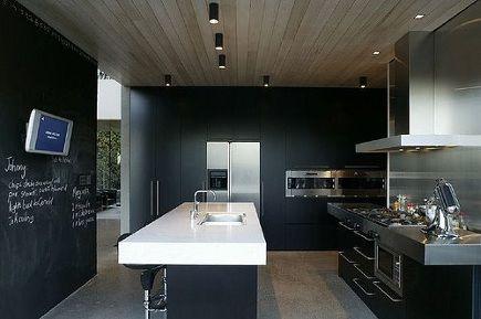 Blackboard magnetic wall dream home keukens