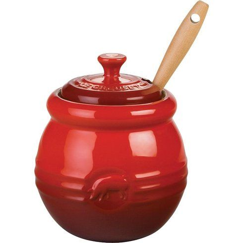 Le Creuset Stoneware 15 Ounce Barbecue Pot W Silicone Brush Cherry 26 95 Best Price Guarantee Free World Shipping Local Order Pick Up Is Also Available