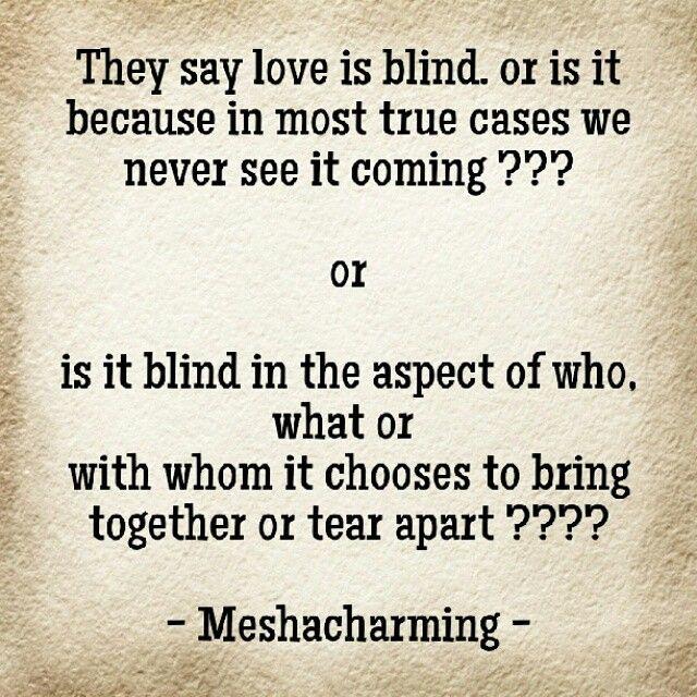 Is love blind