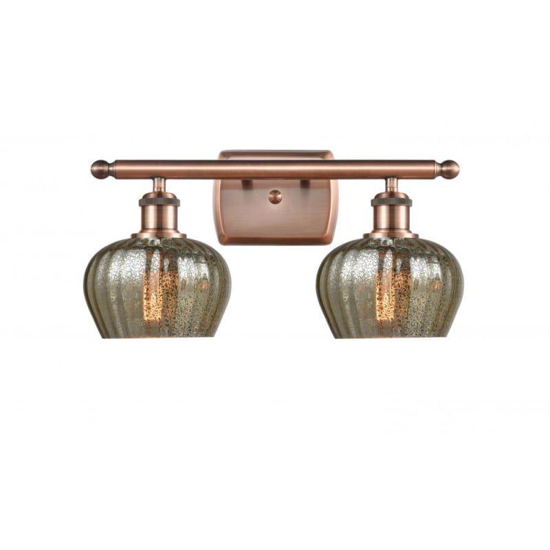Photo of Innovations Lighting 516-2W Fenton Fenton 2 Light 16″ Wide Bathroom Vanity Light Antique Copper / Mercury Indoor Lighting Bathroom Fixtures Vanity
