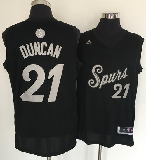 41e8d442bced Spurs  21 Tim Duncan Black 2016-2017 Christmas Day Stitched NBA Jersey