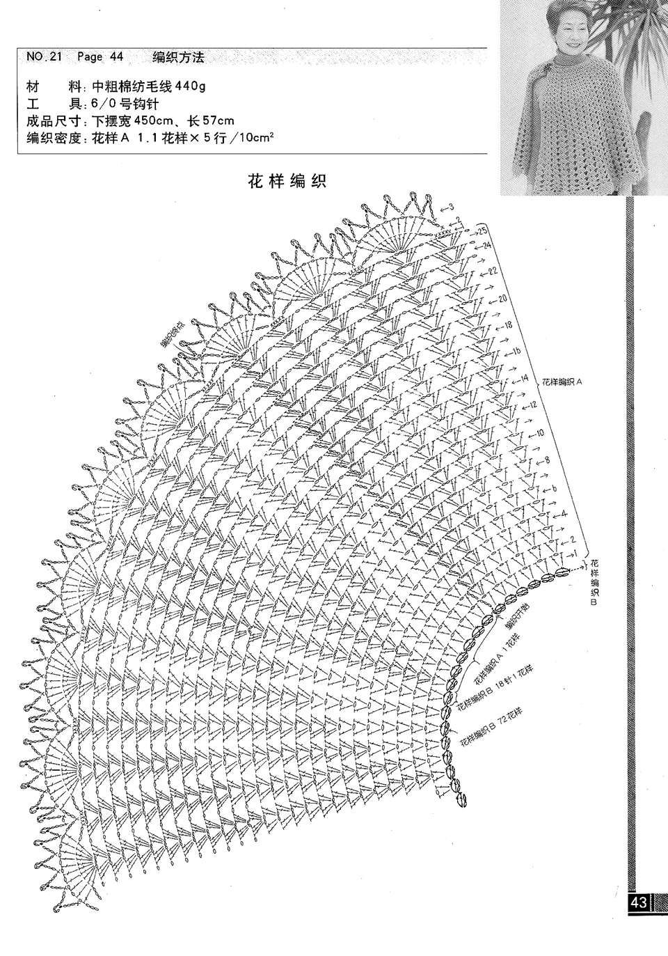 накидка пончо крючком схемы и описание фото картинки этой