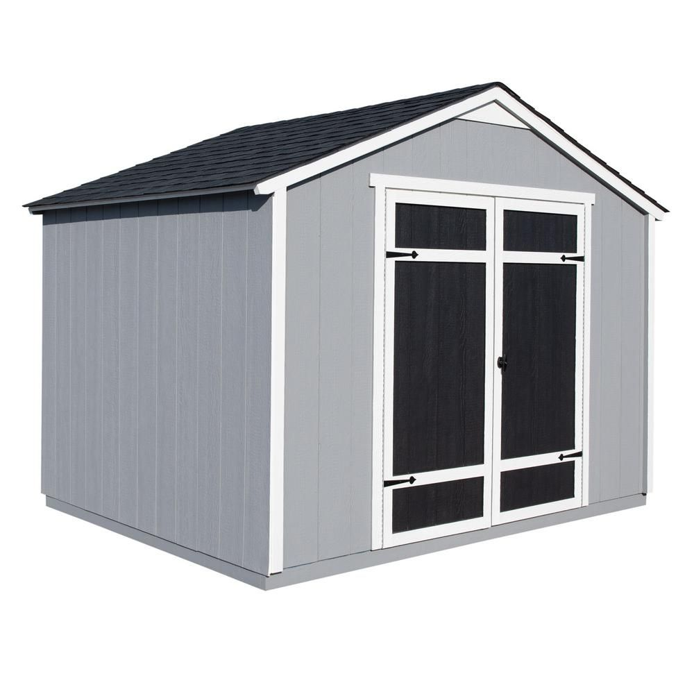 Handy Home Products Monarch 10 Ft X 8 Ft Wood Storage Shed 18380 5 The Home Depot Wood Storage Sheds Shed Storage Shed Prices
