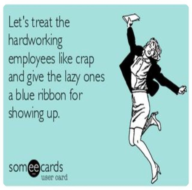 Hard Working Employees Vs Low Performers Work Sarcasm Work Quotes Funny Work Jokes
