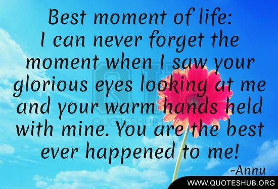 Quotes Hub Mesmerizing Best Moment Of Life I Can Never Forget Quotes Hub Family